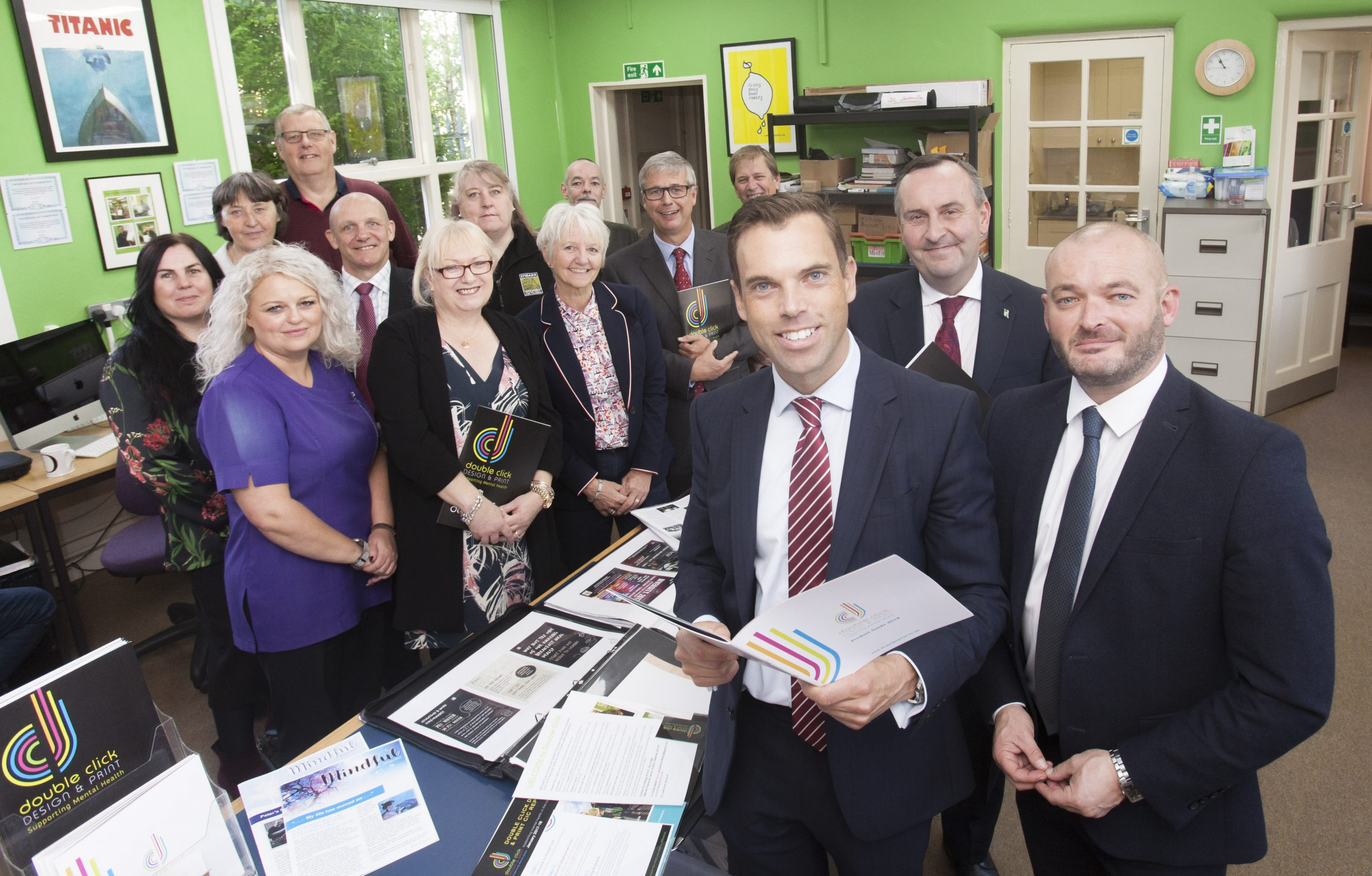 AM Ken Skates Cabinet Secretary for Economy and Transport visits double click Design and Print in Shotton,